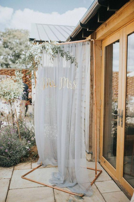 copper wedding arch ideas