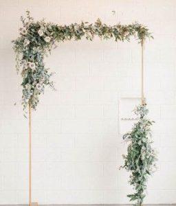 wedding backdrops copper arches