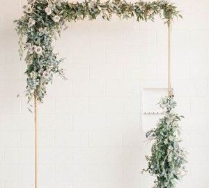wedding backdrops copper arches