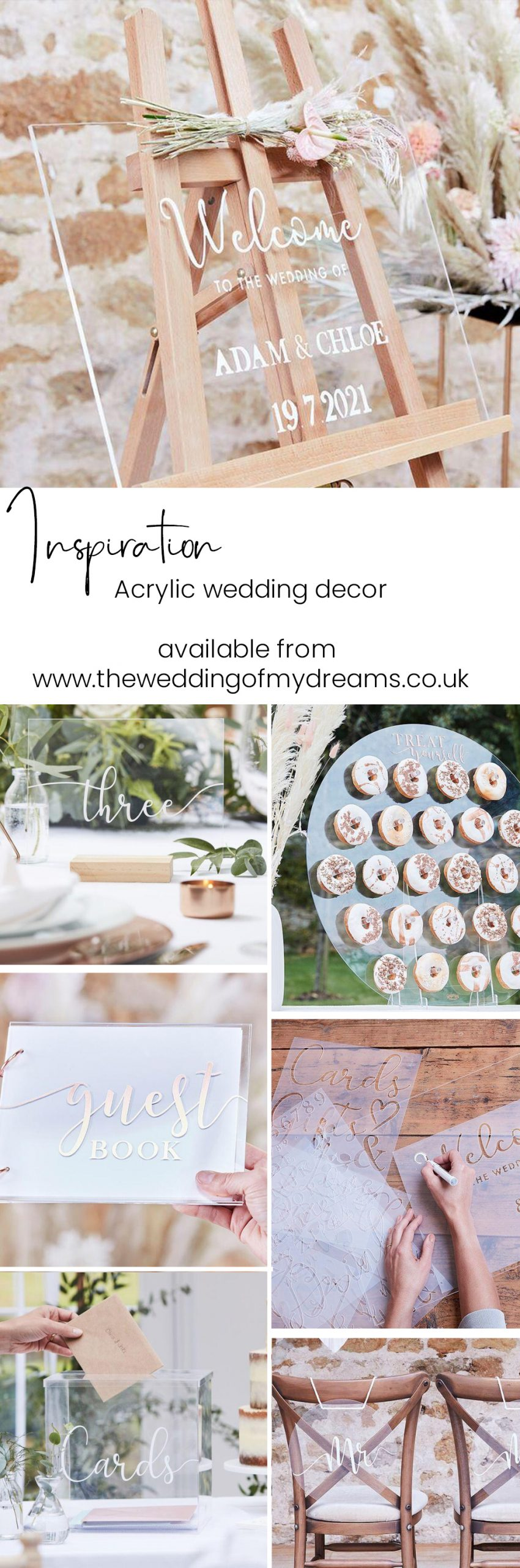 acrylic wedding decorations