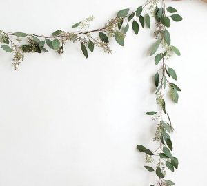 eucalyptus garlands simple wedding backdrops