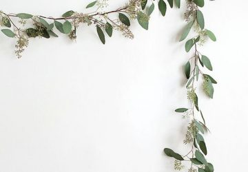 eucalyptus garlands simple wedding backdrops
