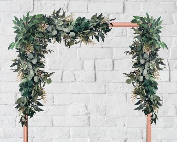 eucalyptus garlands wedding backdrops