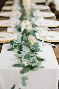 eucalyptus garlands wedding tables