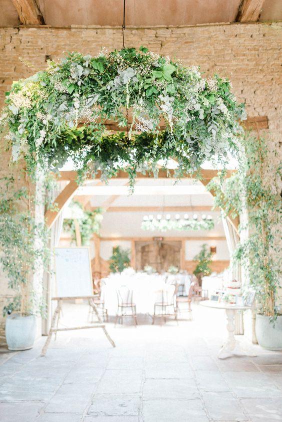 hanging hoops wedding barn