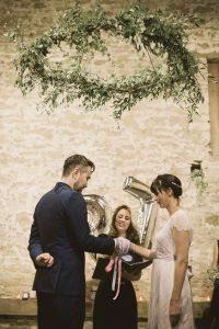 hanging hoops wedding ceremony