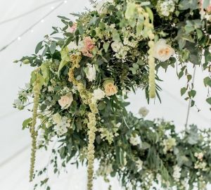hanging hoops wedding marquee