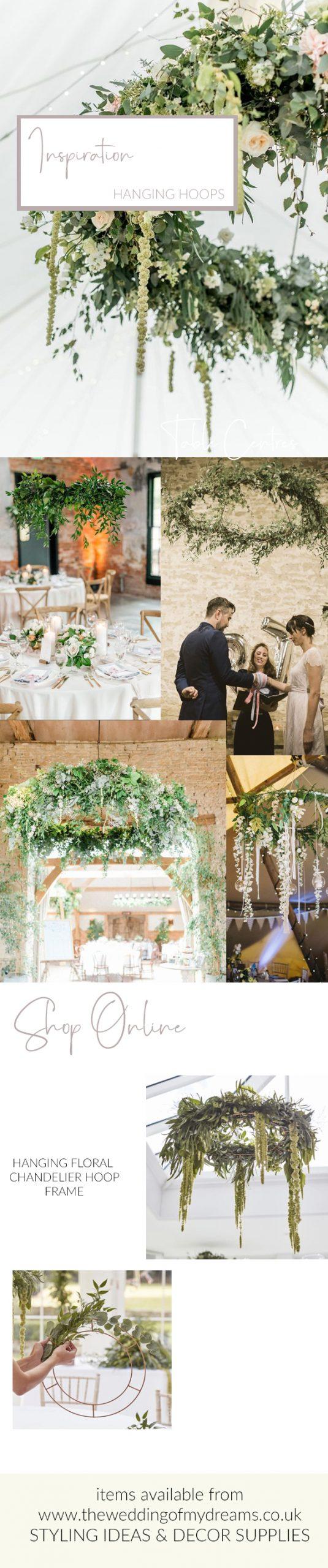wedding hoops floral chandelier frames wedding for sale