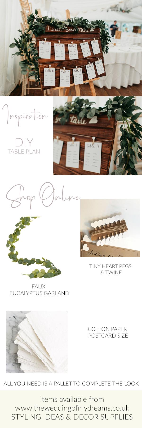 DIY wedding table plan wedding venue styling ideas rustic