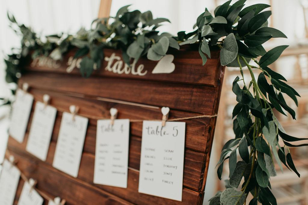 DIY wedding table plans rustic wedding pallets