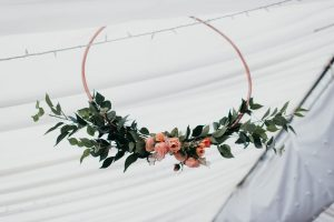 Hanging Hoops Wedding Floral Decorations 1