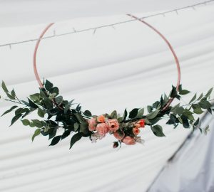 Hanging Hoops Wedding Floral Decorations