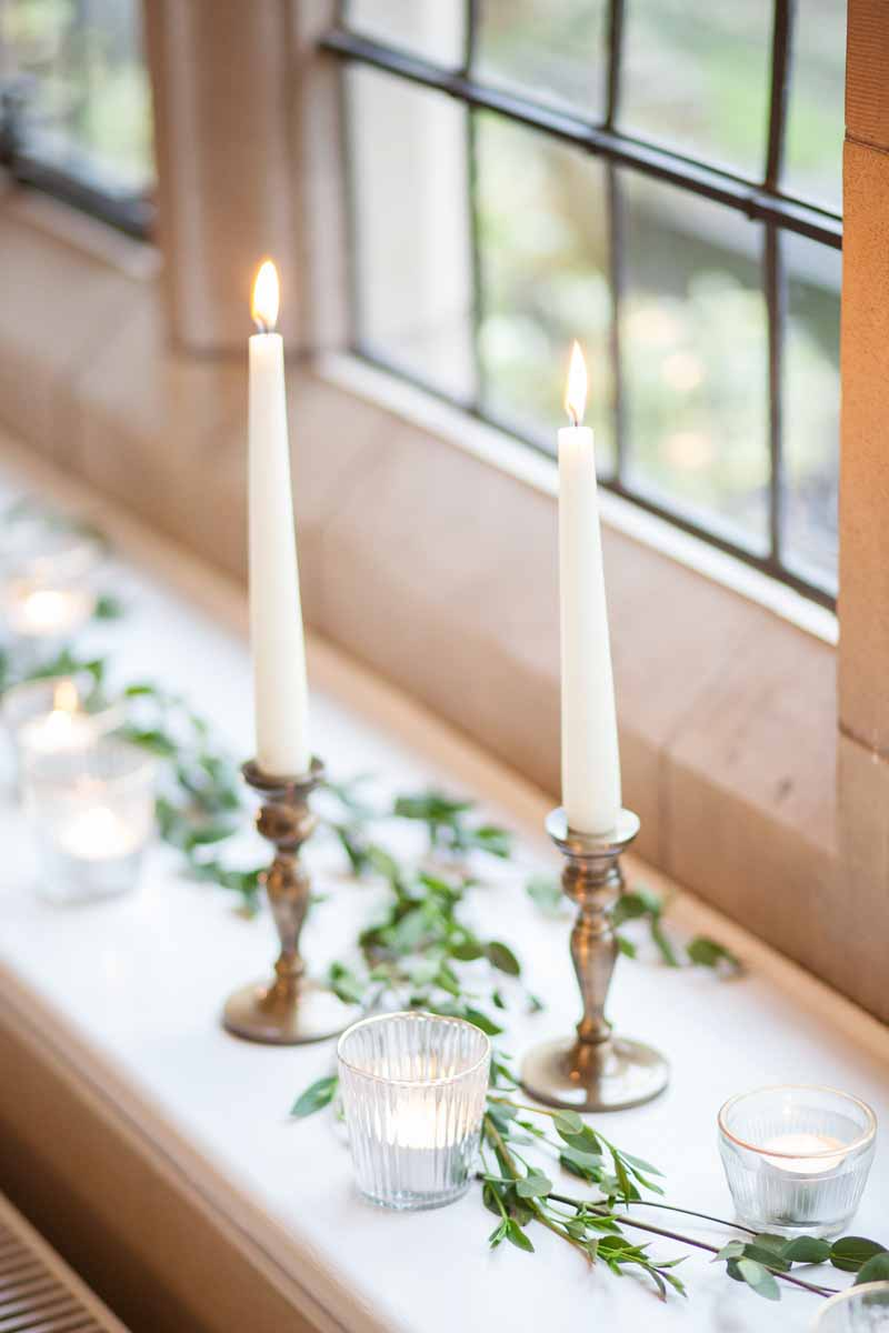 Candlesticks wedding styling ideas