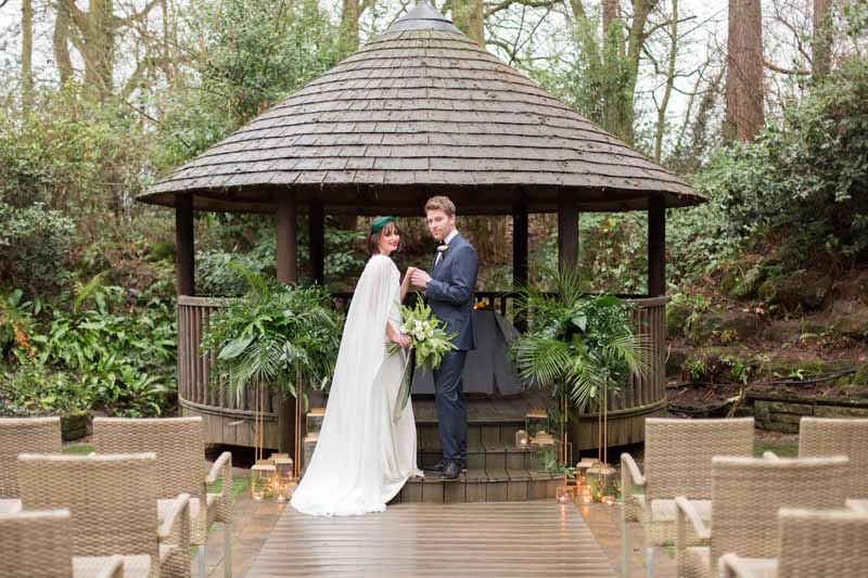 Brass and green wedding decor outdoor wedding ceremony The Wedding of my Dreams