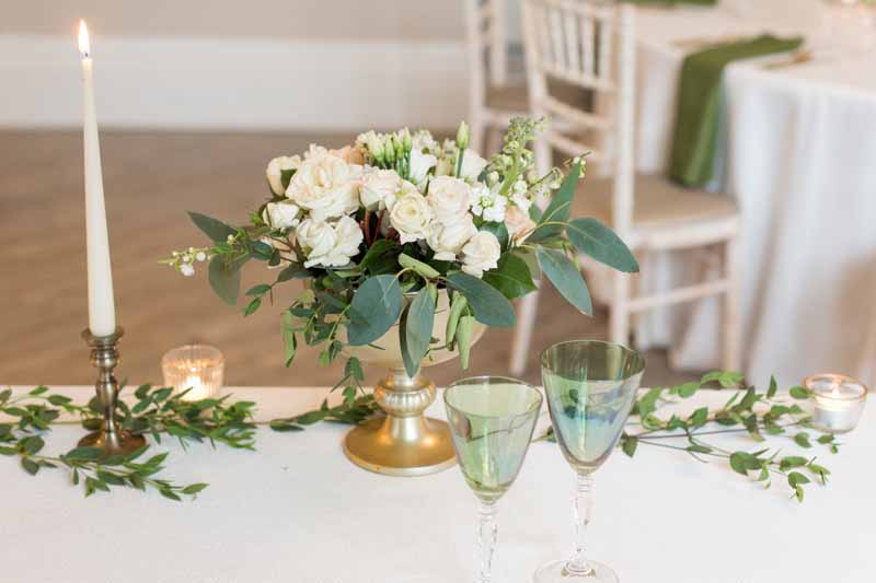 Top Table wedding ideas Brass and gold