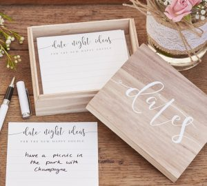 date night ideas box wedding keepsakes