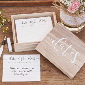 date night ideas box wedding keepsakes
