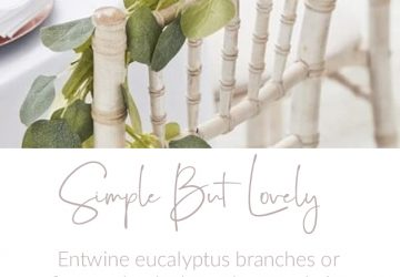 wedding chair decorating ideas foliage garlands eucalyptus