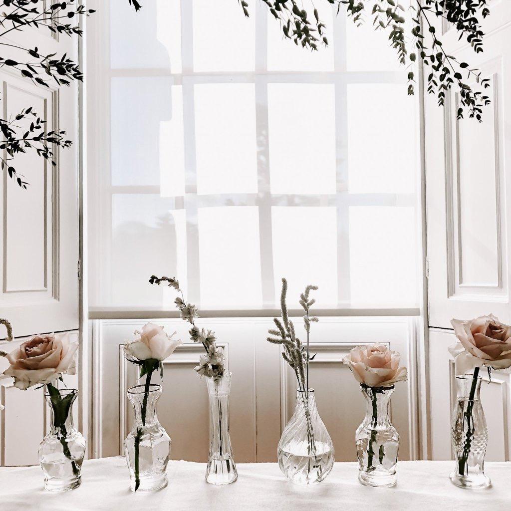 Bud vases for weddings