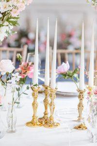 Gold candlesticks wedding ideas