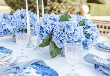 blue wedding flower ideas